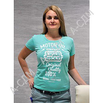 Стильная футболка LIQUI MOLY женская 7845R, цвет мятный ... Грейдер ДЗ 143